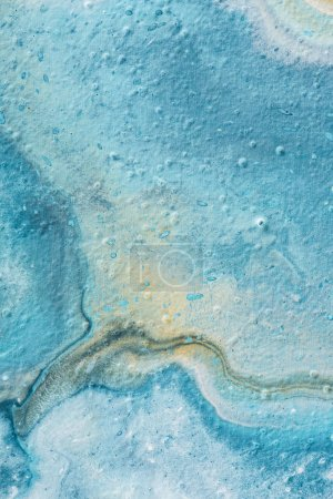 Photo for Abstract light blue and yellow textured of oil painting - Royalty Free Image
