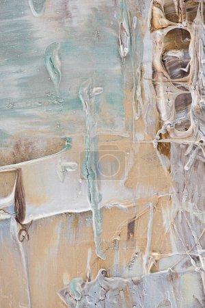 abstrait avec des coups de pinceau bleu beige et légère de peinture à l'huile