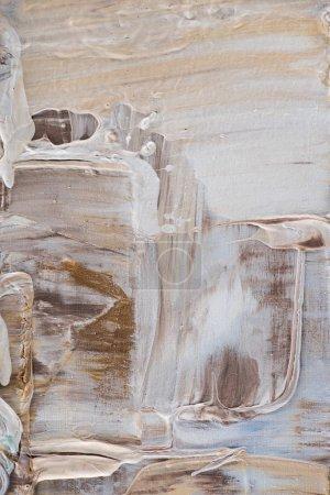Photo pour Fond avec des coups de pinceau beige et marron de peinture à l'huile - image libre de droit