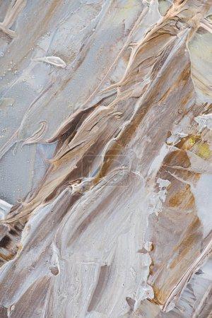 Photo pour Texture abstraite de coups de pinceau beige et marron de peinture à l'huile - image libre de droit