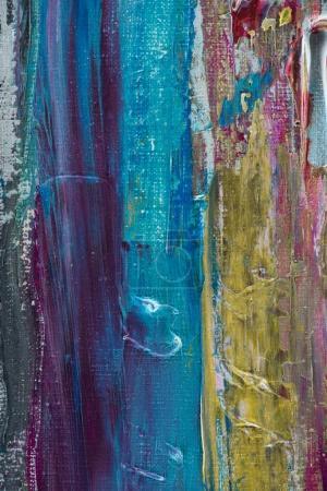 fondo artístico con trazos de pincel azul, amarillo y púrpura de pintura al óleo