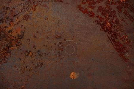 Old industrial metal covered with rust background