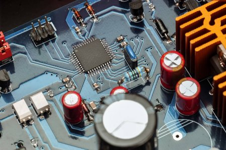 Photo for Closeup view of electronic system board - Royalty Free Image