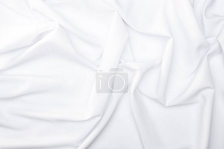 Photo for Full frame of white silk cloth background - Royalty Free Image