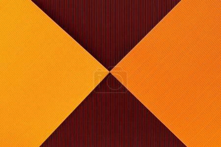 vista superior de las hojas coloridas de papel