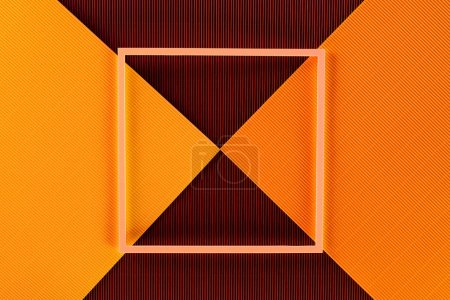 top view of arrangement of colorful paper sheets and frame background