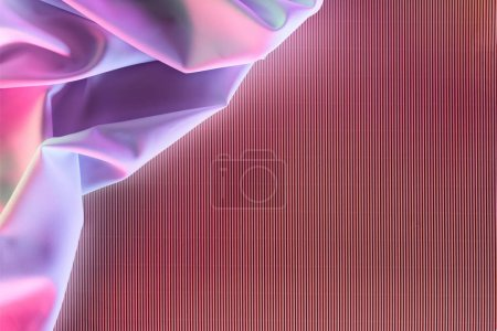 toned picture of purple soft silk cloth as backdrop
