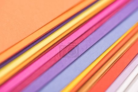 Photo for Close up of colorful, bright and blank papers - Royalty Free Image