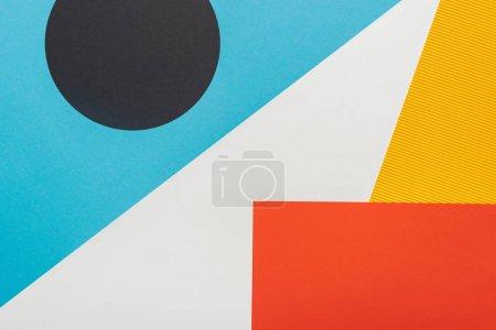 Photo pour Top view de fond géométrique abstrait et coloré - image libre de droit