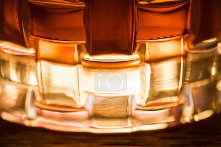 Photo pour Close up view of brandy in textured glass - image libre de droit