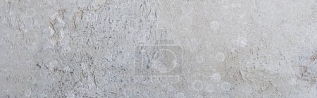 Photo for Top view of textured grey surface with copy space, panoramic shot - Royalty Free Image
