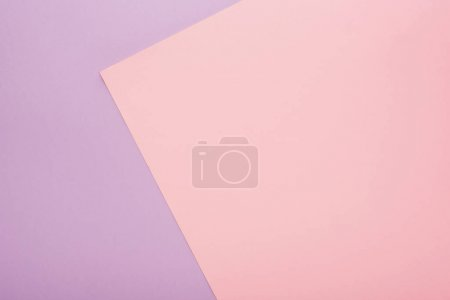 Photo pour Top vue de la texture du papier violet et rose - image libre de droit