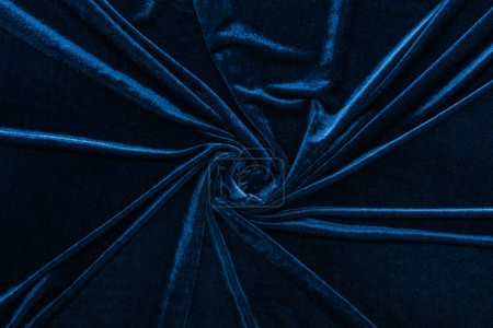 top view of crumpled textured velour cloth