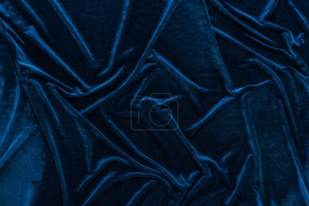 Photo for Top view of crumpled textured velour cloth - Royalty Free Image