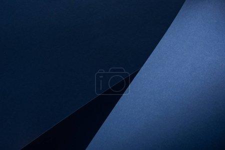 Foto de Vista superior del fondo de papel azul curvo - Imagen libre de derechos