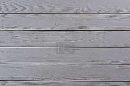 Photo for Top view of background with white wooden planks - Royalty Free Image