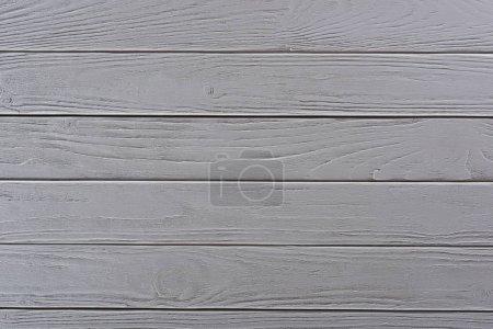 Foto de Vista superior de fondo con tableros de madera blanca - Imagen libre de derechos
