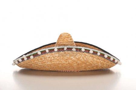 Photo pour Sombrero mexicain sur fond blanc - image libre de droit
