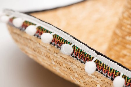 Photo for Close up view of sombrero on white - Royalty Free Image