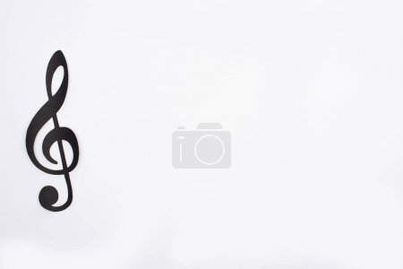 Photo for Top view of paper cut black note on white background - Royalty Free Image