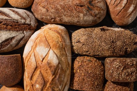 Photo for Top view of fresh baked bread loaves - Royalty Free Image