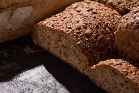 Photo for Close up view of fresh baked whole grain bread - Royalty Free Image