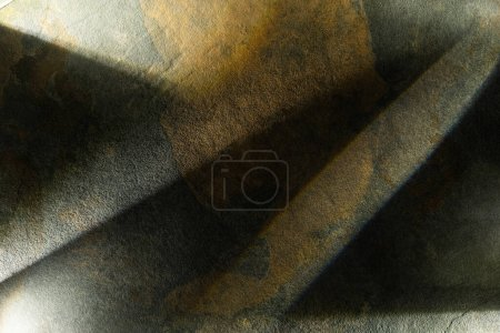 Photo for Light prism with beams on dark stone background - Royalty Free Image
