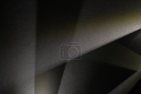 Photo for Light prism with beams on dark textured background - Royalty Free Image