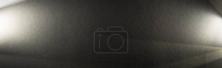 Photo for Light prism with beams on dark textured background, panoramic crop - Royalty Free Image