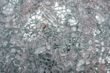 top view of abstract silver glass textured background