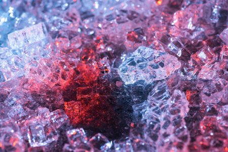colorful abstract blue, red and purple glass textured background