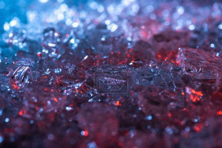 Photo for Close up view of abstract red and blue crystal textured background - Royalty Free Image