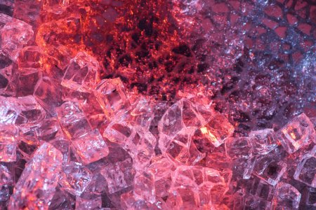 Photo for Top view of abstract red and purple ice textured background - Royalty Free Image