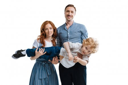 Happy family with one child 3