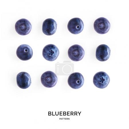Pattern of blueberries laid out symetrically