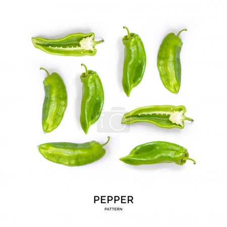 Pattern of peppers laid out symetrically