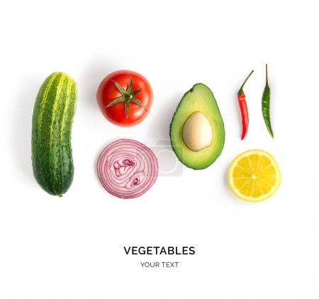 Minimalistic composition of vegetables