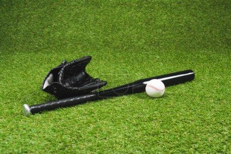 Baseball bat and ball