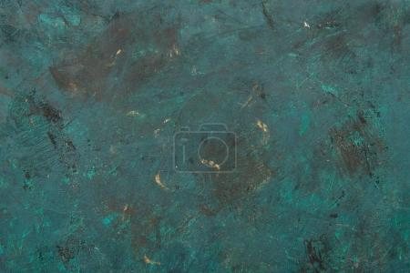Photo for Close-up view of dark grunge scratched turquoise textured background - Royalty Free Image