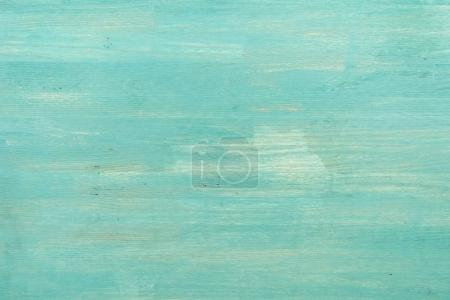 Photo for Abstract empty turquoise wooden textured background, close-up view - Royalty Free Image