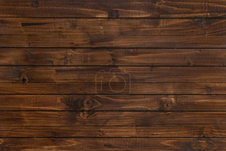 Photo for Top view of brown wooden horizontal planks, wood background - Royalty Free Image