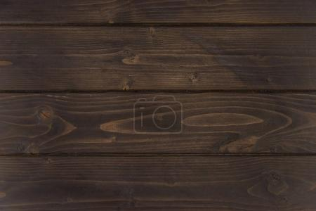 Photo for Close-up view of dark brown wooden horizontal planks, wood background - Royalty Free Image