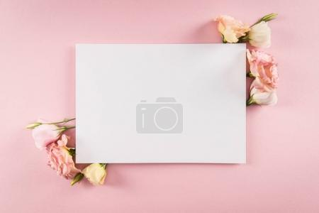 Beautiful flowers and blank card