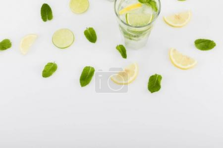 summertime drink with citrus and mint