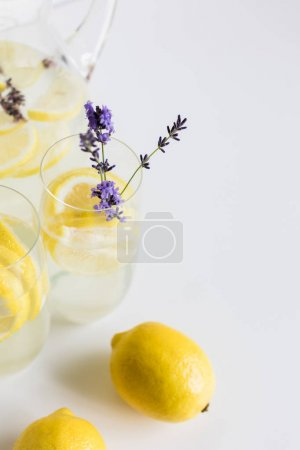 fresh citrus drinks with lavender