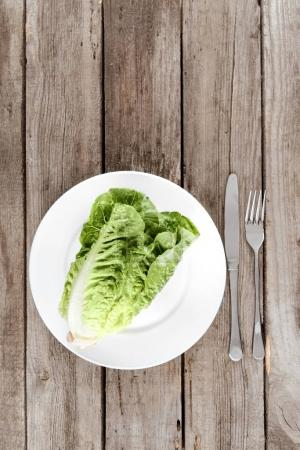 fresh letuce salad on plate