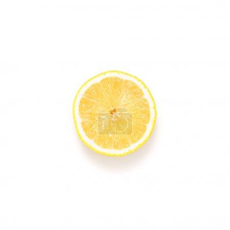 Photo for Slice of fresh lemon isolated on white - Royalty Free Image