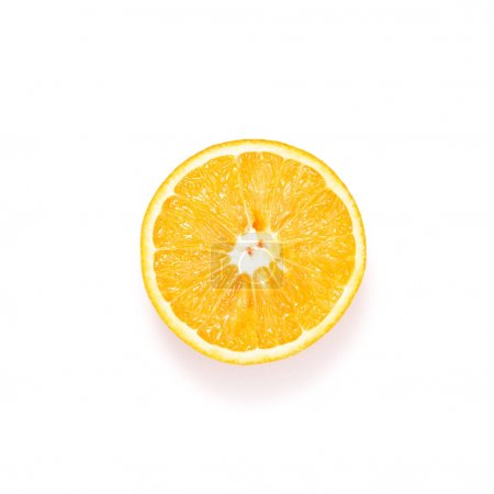 Photo for Fresh slice of orange isolated on white - Royalty Free Image