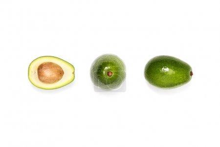 compotsition of fresh avocados