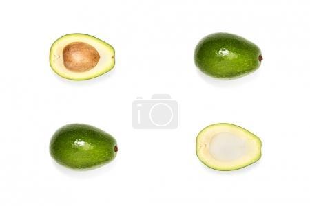 composition of fresh ripe avocados